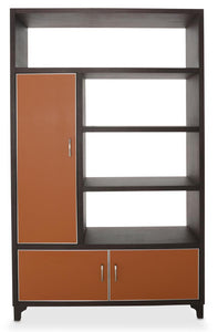 Aico 21 Cosmopolitan Left Bookcase in Umber/Orange 9029098L-812 image