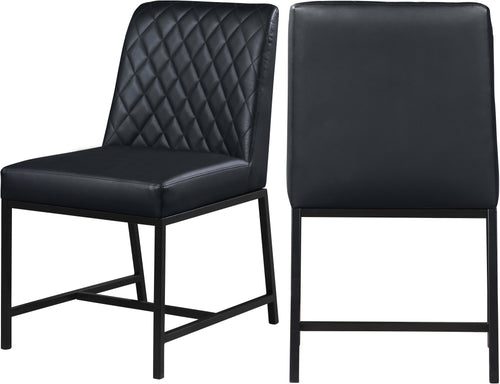 Bryce Black Faux Leather Dining Chair