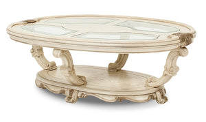 Aico Platine de Royale Oval Cocktail Table in Champagne 09201-201 image