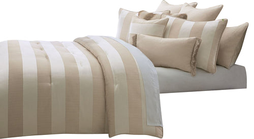 AICO Amalfi 10-pc King Comforter Set in Sand BCS-KS10-AMLFI-SND image