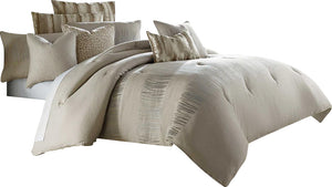 AICO Captiva 10-pc King Comforter Set in Neutral BCS-KS10-CAPVA-NUTR image