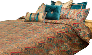 AICO Seville 10-pc King Comforter Set in Honey BCS-KS10-SEVILE-HNY image
