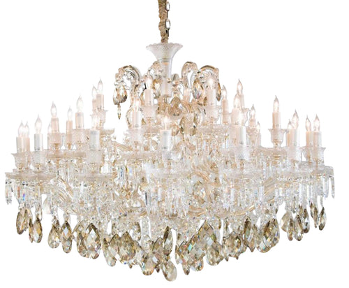 Aico Lighting San Carlo 37 Light Chandelier in Clear and Gold LT-CH917-37GLD image