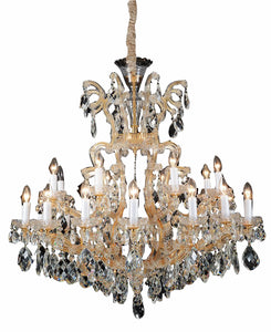 Aico Lighting La Scala 19 Light Chandelier in Cognac and Gold LT-CH912-19CGN image