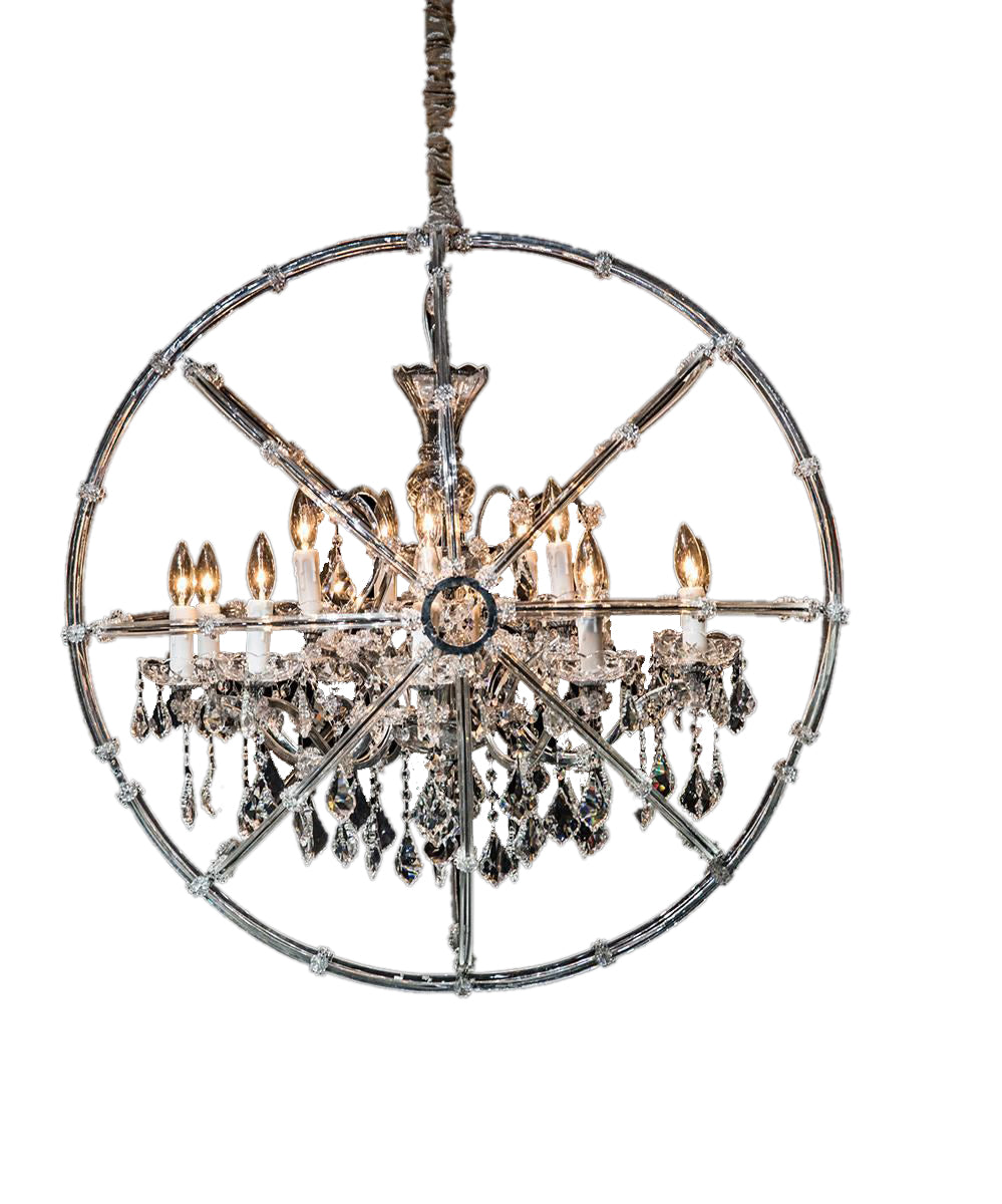 Aico Lighting Pena 15 Light Chandelier in Clear and Chrome LT-CH921-15CLR image