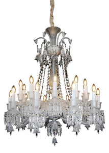 Aico Lighting Treviso 24 Light Chandelier in Clear and Chrome LT-CH910-24CLR image