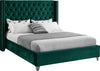 Aiden Green Velvet Queen Bed