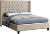 Ashton Beige Linen Queen Bed