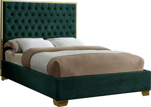 Lana Green Velvet Queen Bed