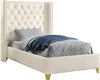 Soho White Bonded Leather Twin Bed