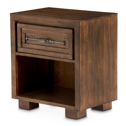 Aico Carrollton One Drawer Nightstand in Rustic Ranch KI-CRLN040-407 image