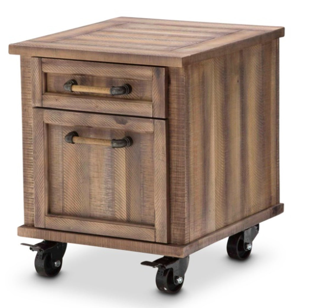 Aico Crossings Rolling File Cabinet in Reclaimed Barn KI-CRSG250-217 image