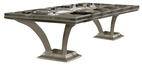 AICO Hollywood Swank Rectangular Dining Table in Pearl Caviar image