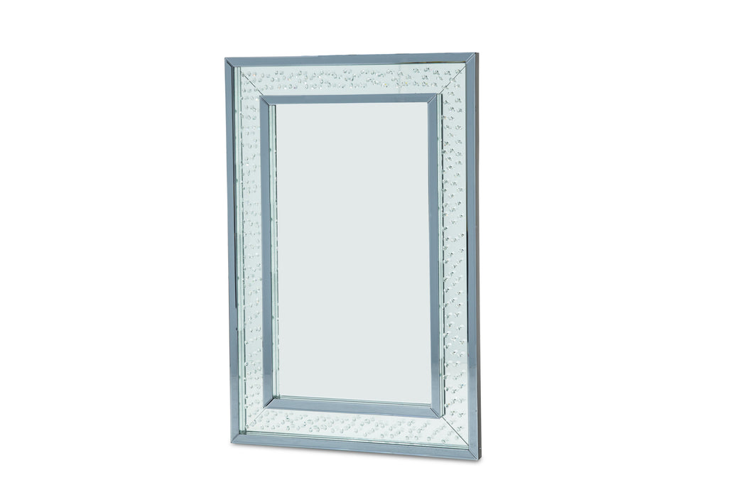 AICO Montreal Rect Wall Decor Crystal Framed Mirror FS-MNTRL261 image