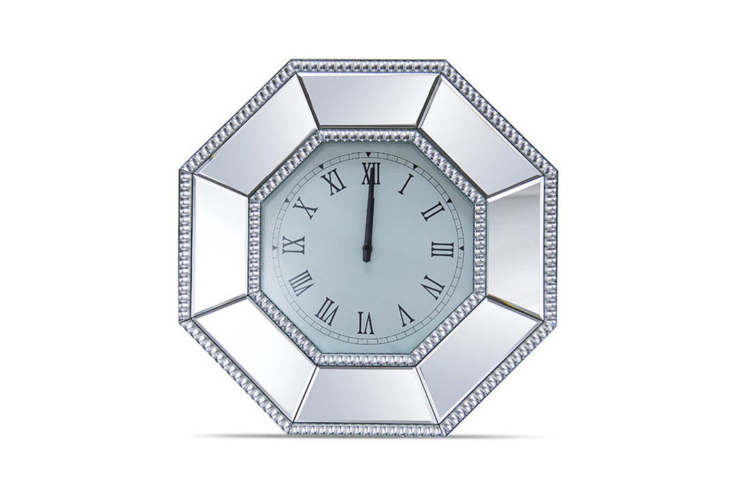 AICO Montreal Octagonal Mirrored Wall Clock FS-MNTRL278 image