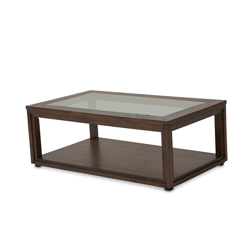 Aico Carrollton Rectangular Cocktail Table in Rustic Ranch KI-CRLN201-407 image