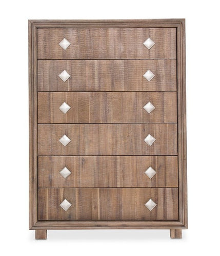 AICO Hudson Ferry 6 Drawer Chest in Driftwood KI-HUDF070-216 image