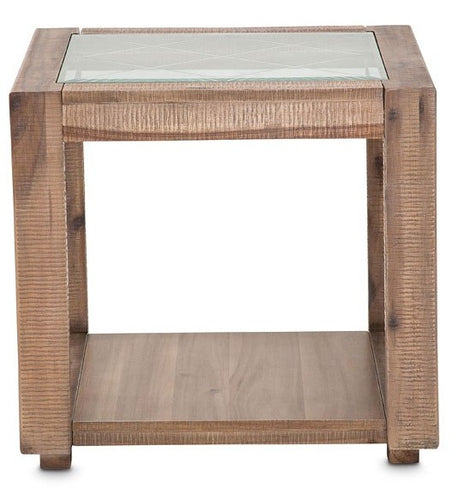 AICO Hudson Ferry End Table in Driftwood KI-HUDF202-216 image