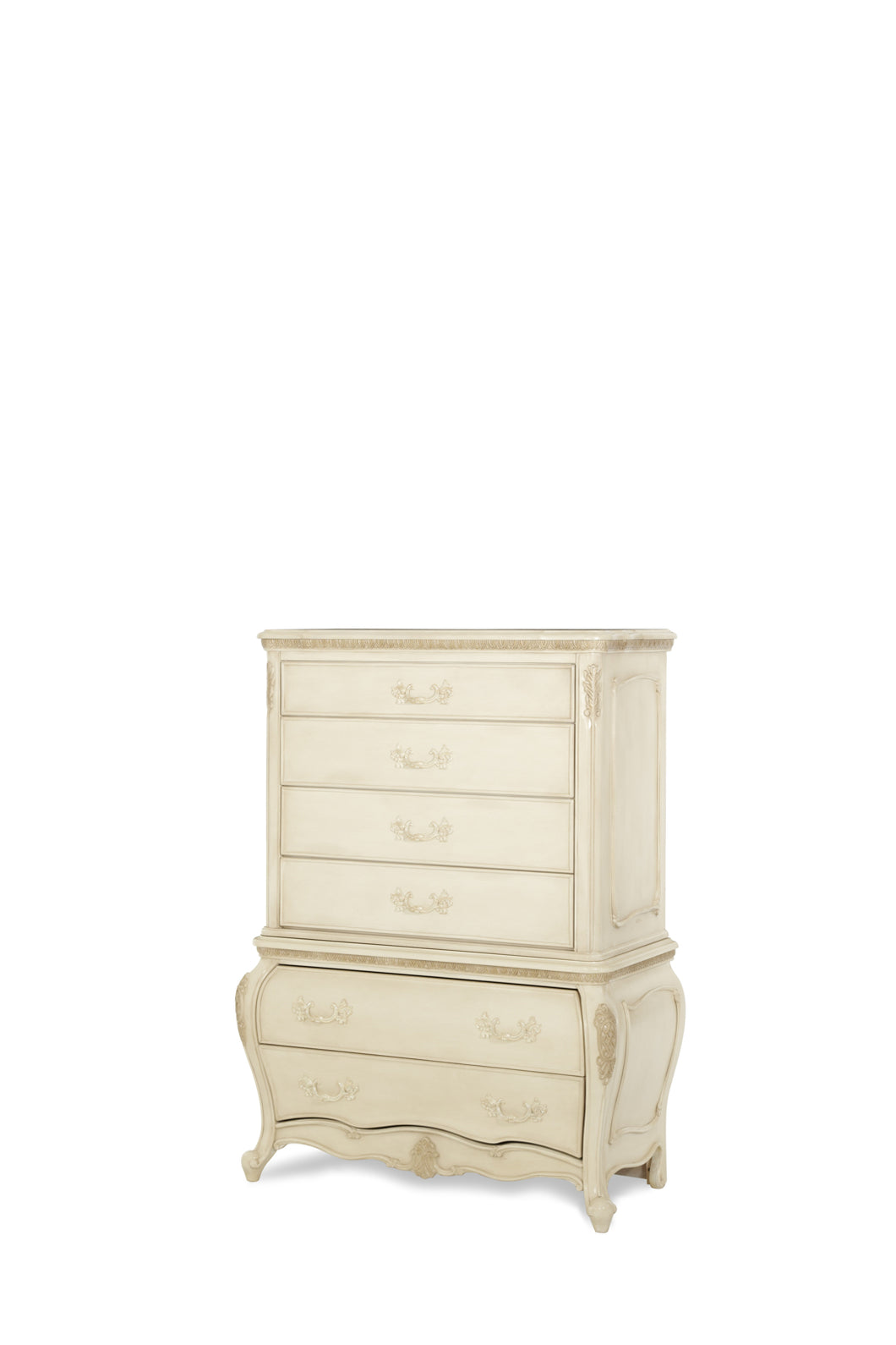 AICO Lavelle 6-Drawer Chest in Blanc White 54070-04 image