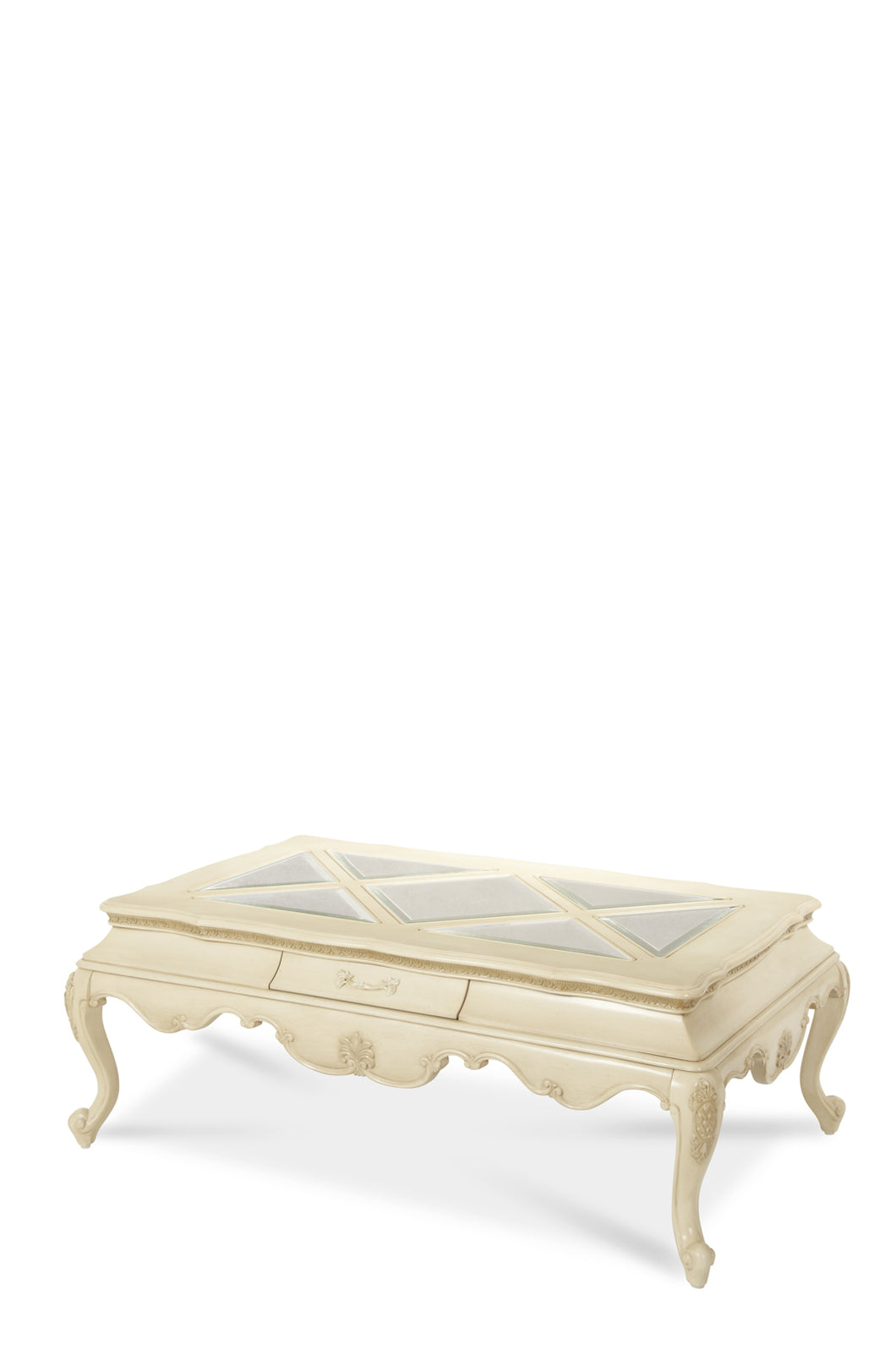 AICO Lavelle Rectangular Cocktail Table in Blanc 54201-04 image