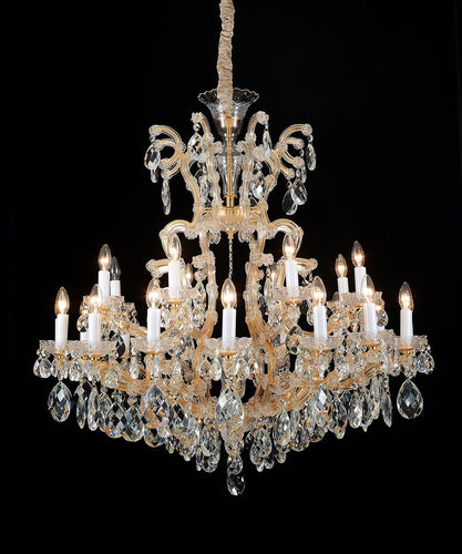 Aico Lighting La Scala 25 Light Chandelier in Cognac and Gold LT-CH911-25CGN image
