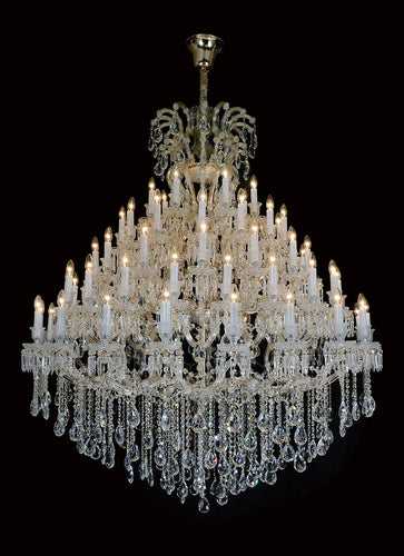 Aico Lighting Grand Versailles 45 Light Chandelier in Clear and Gold LT-CH915-45GLD image