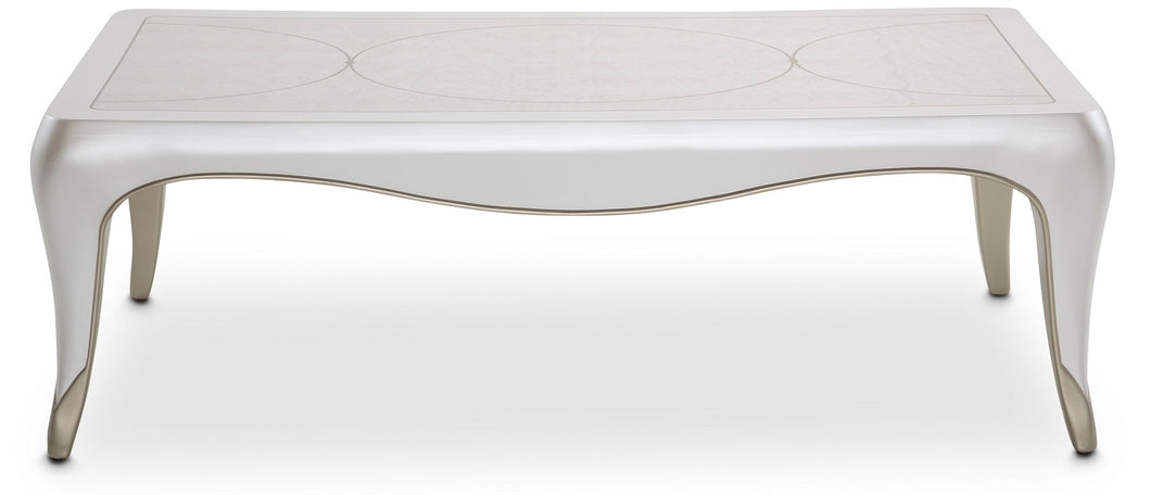 AICO Furniture London Place Cocktail Table in Creamy Pearl image