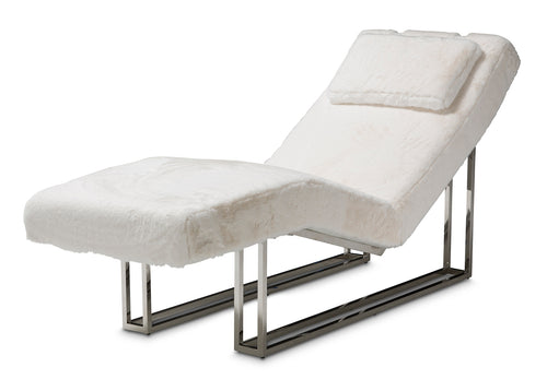 Aico Furniture Trance Upholstered Chaise in White TR-ASTRO41-MST-13 image
