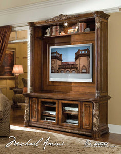 AICO Villa Valencia Entertainment Wall in Chestnut- Base Only 72095B-55 image