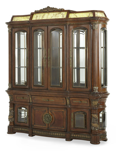AICO Villa Valencia China & Buffet in Classic Chestnut 72005-6LB-55 image