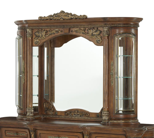 AICO Villa Valencia Mirror with Lighting Box in Chestnut image