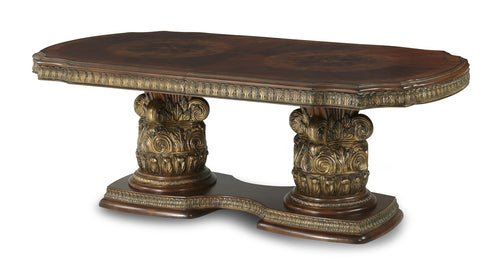 AICO Villa Valencia Rectangular Dining Table in Classic Chestnut 72002-55 image