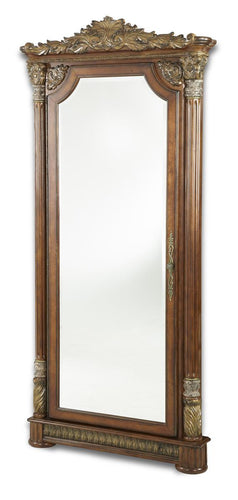 AICO Villa Valencia Accent Wall Mirror in Chestnut 72062-55 image