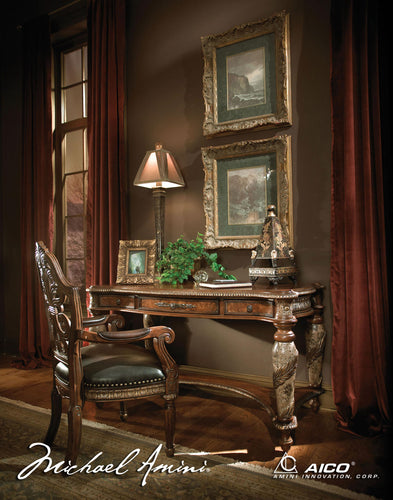 AICO Villa Valencia Writing Desk in Chestnut image