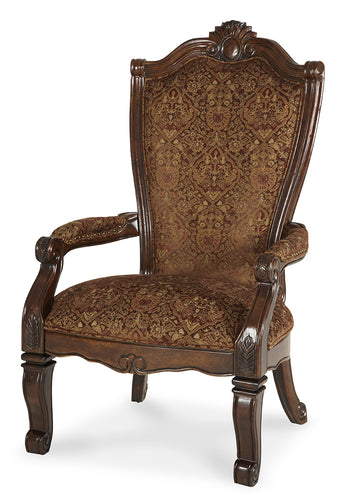 AICO Windsor Court Arm Chair in Vintage Fruitwood (Set of 2) 70004-54 image