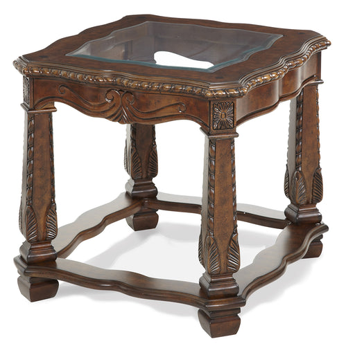 AICO Windsor Court End Table in Vintage Fruitwood 70202-54 image