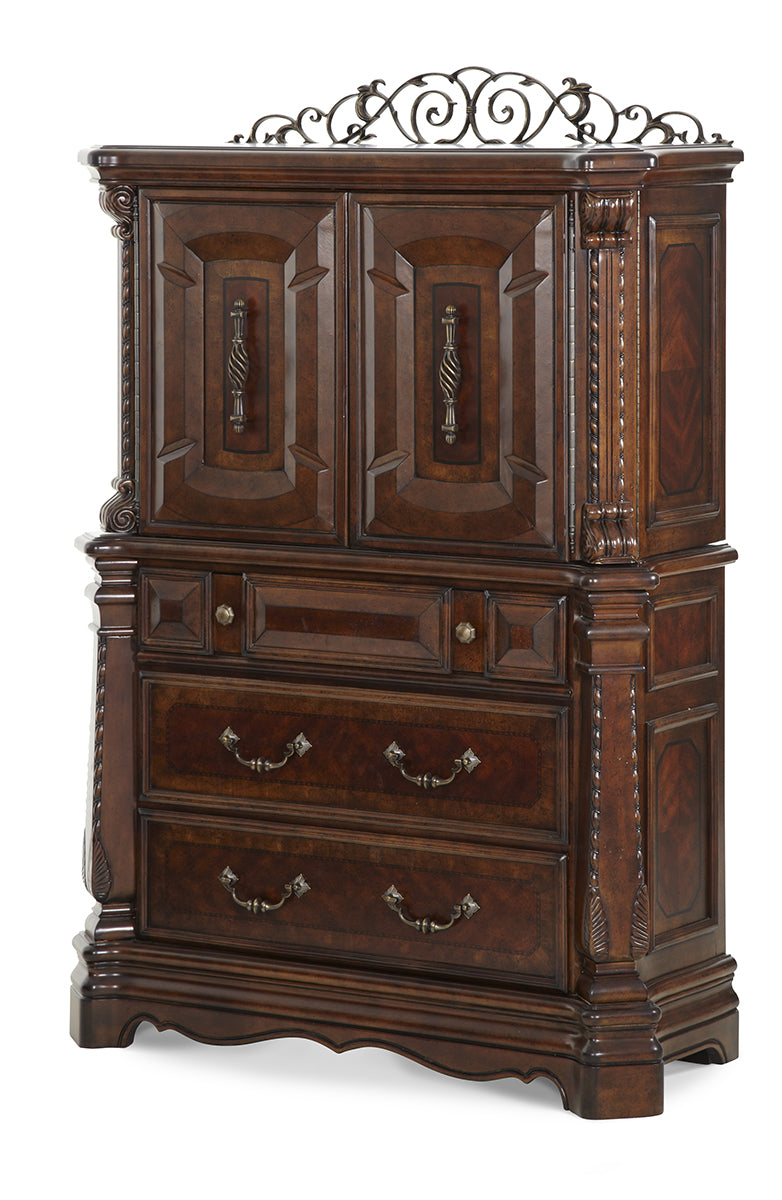 AICO Windsor Court Gentleman's Chest in Vintage Fruitwood 70070-54 image