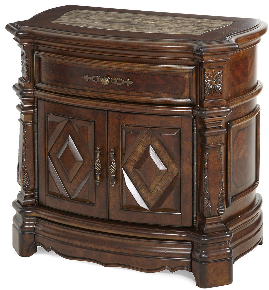 AICO Windsor Court Nightstand in Vintage Fruitwood 70040-54 image