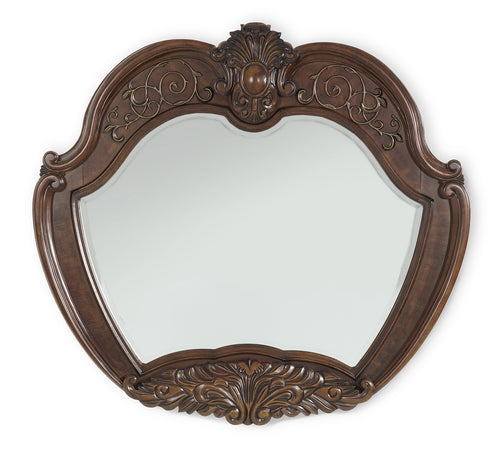 AICO Windsor Court Sideboard Mirror in Vintage Fruitwood 70067-54 image