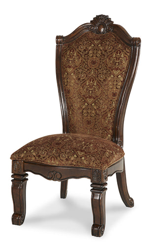 AICO Windsor Court Side Chair in Vintage Fruitwood (Set of 2) 70003-54 image