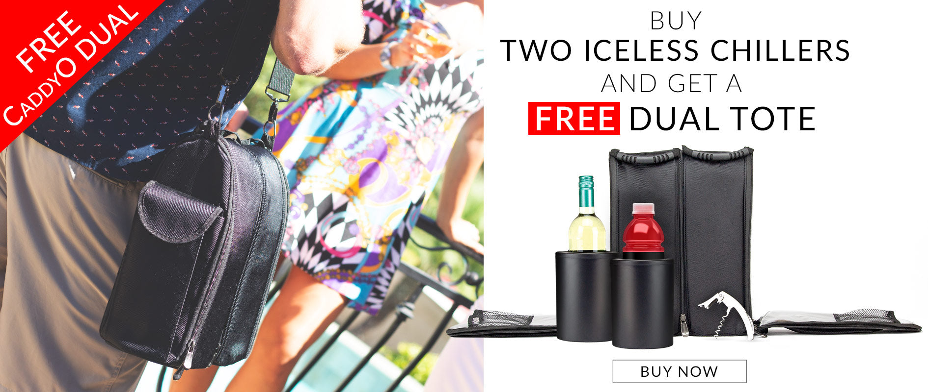 FREE CaddyO Dual Tote with Two Iceless Wine Chillers