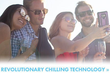 ChillnJoy's complete line of beverage chilling products keeps your beverages perfectly chilled for up to 8 hours.