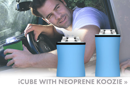 iCube with neoprene koozie by ChillnJoy – Keep your canned drinks chilled up to 6 hours