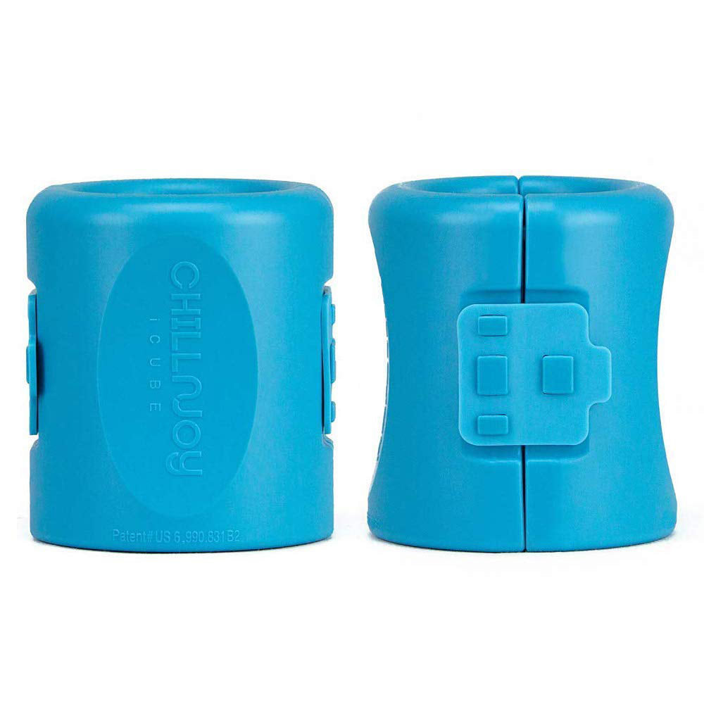 The iCube gel-infused beverage chiller - revolutionary cooling technology with the comfort of a neoprene sleeve. 4 colors: red, green, blue, black