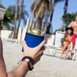 Gel-infused, double-wall iceless beverage chiller with neoprene sleeve by ChillnJoy brings room-temperature canned beverages to 42 degrees within 30 minutes and keeps it chilled for up to 6 hours by ChillnJoy - The QUICKEST Way to Cool