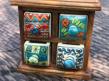 Load image into Gallery viewer, Ceramic storage chest - 4 drawer