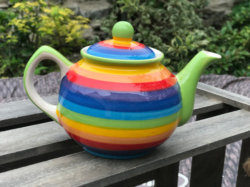 Hand painted rainbow teapot (Small)