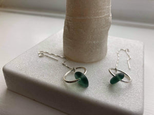 Seaglass earrings