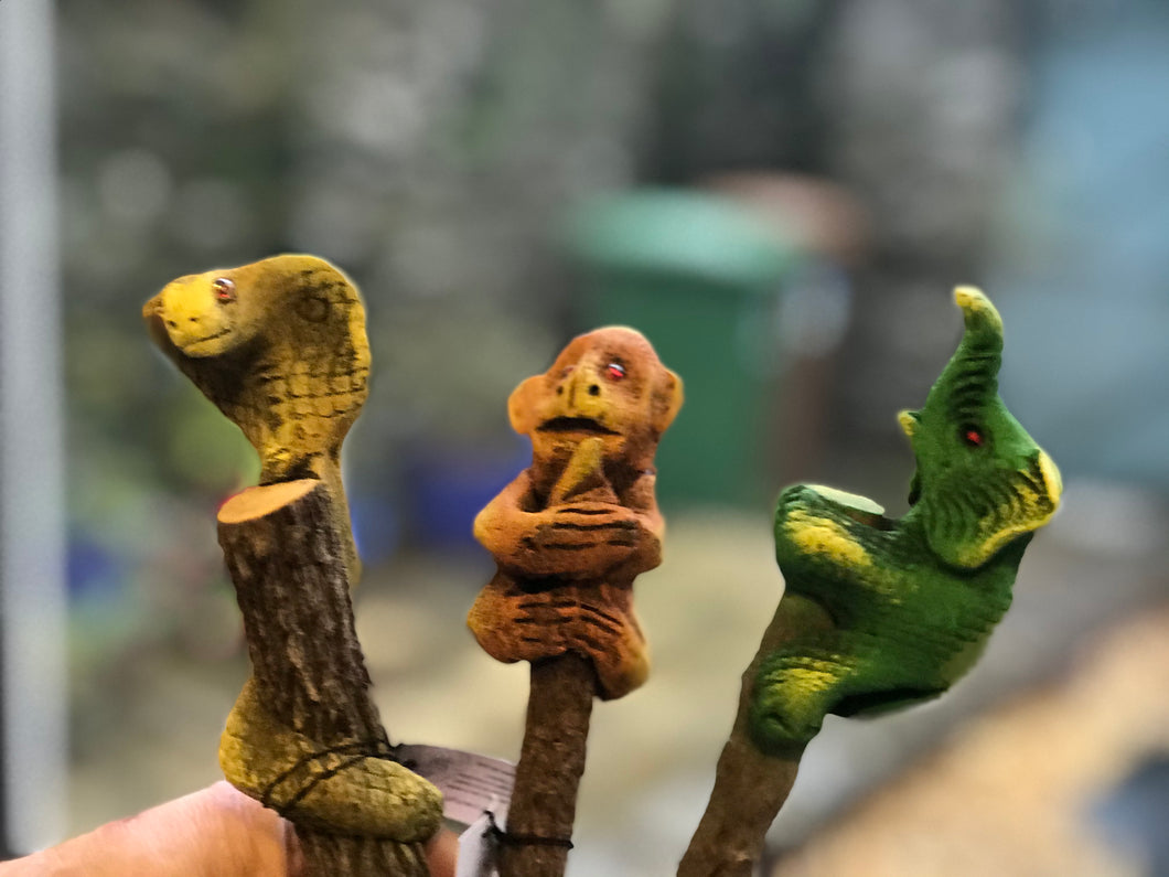 Wooden animal pencils
