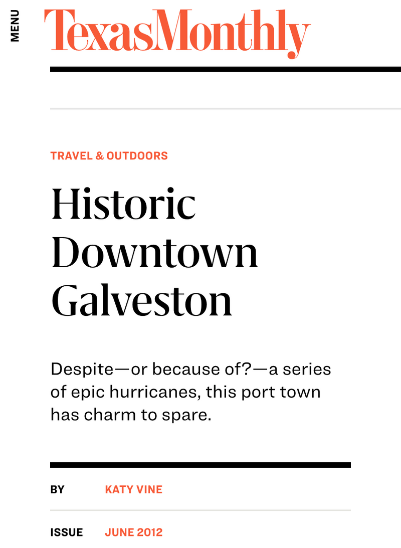 Texas Monthly - Historic Downtown Galveston